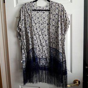 Boho Paisley Kimono With Fringe